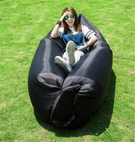 Wholesale 2016 Fast Inflatable Sofa Sleeping Bag Outdoor Air Sleep Sofa Couch Portable Sleeping Hangout Lounger Inflate Air Bed cm F842