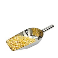 Wholesale stainless steel ice scoop multifunction nuts grains and cereals flat shovel kitchen home handmade tool