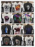 Wholesale Christian religion Summer Men S Fashion Brand PP Short Sleeve T Shirt Men Casual Solid Color High Quality Skulls Sports Camisetas T Shirt