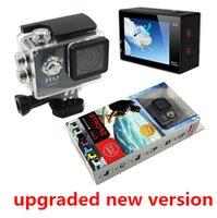 Wholesale SJ4000 style A9 Inch LCD Screen P Full HD Action Camera M Waterproof Camcorders SJcam Helmet Sport DV Car DVR upgraded new version