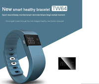 Wholesale 2016 new TW64 Smartband Smart sport bracelet Wristband Fitness tracker Bluetooth fitbit flex Watch for ios android pk fitbit OTH048