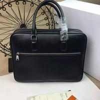 nuovo marchio di moda uomo borsa a mano in vera pelle famoso Cartella Designer borsa d'affari per gli uomini 225