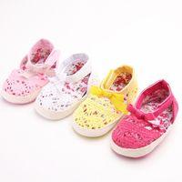 bebe dress blue - 2016 Lovely Infant Toddler Summer Shoes Newborn Baby Girls Kids Bow Princess Dress First Walkers Indoor Shoes Crib Bebe Footwear