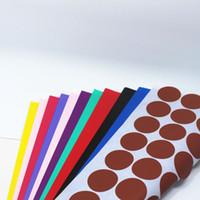 adhesive printer paper - 3cm Inch Colorful Round Dot Self Adhesive Printer Kraft Paper Sticker In A4 Sheet Party Laser Inkjet Printer