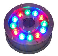 Wholesale Underwater Fountain Light LED W W W W W IP68 LED light swimming pool Lamps RGB LED fountain lights V V V V MYY