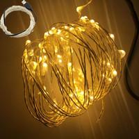 Wholesale USB V LED String Light M leds M LEDS Sliver Copper Wire Fairy Light For Holiday wedding Home Party Decoration
