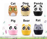 Wholesale Creative cute animal wireless bluetooth mini speaker for mobile phone