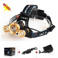 Wholesale Boruit Gold LM xCREE XML T6 LED Zoomable Rechargeable Headlight Headlamp Head Torch Lamp Lantern linternas for Hunting XCharger