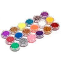 Wholesale 18Colors set Nail Art acrylic Glitter Nail Art Tool Kit Acrylic UV Powder Dust gem Polish Nail Tools Nail Art Tip Decoration