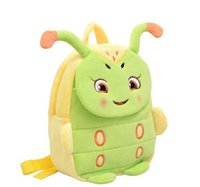 Wholesale Free DHL baby plush doll backpack kids handmade cartoon kindergarten bag soft schoolbag Christmas Gift