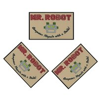 Wholesale MR ROBOT FSOCIETY White TV Show High Quality Iron Patch Quality Appliques DIY garment bag patches
