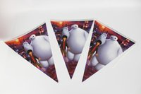 Wholesale flags Cartoon Pattern BigHero6 Baymax Theme Party Birthday Party Decoration Banner For Children kids Party Supplies