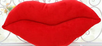 Package pillow big pregnancy - 2017NEW45 cm creative novelty item funny women big mouse shape cushion pink red lip plush toy throw pillow for couch pregnancy