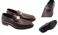 Wholesale Hot Fashion Italian Famous Designer Brands High Quality Genuine Leather Slip On Dress Men Shoes Various Sizes