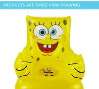 Wholesale For Kid Years Old Cute Portable Cartoon Sponge Bob Children s Toy Chairs Lovely Inflatable Sofa Kids PVC Chairs Baby Seats