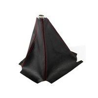 Wholesale New Arrival High Quality Universal Red Stitch JDM Black PVC Leather Manual Auto Shifter Shift Boot Cover