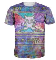 Men ancient mew - Newest Popular Ancient Mew Womens Mens Cartoon Pokeballs Short Sleeves Funny D Print T shirt Summer Casual T shirt S XLKK44