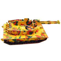Wholesale MICHLEY Children Boys Jigsaw Stereoscopic D Foam Puzzle Models Handmade Creative DIY Kid s Educational Toys Tank T0158 paomotanke
