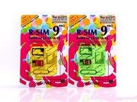 Wholesale 50PCS Genuine R SIM RSIM9 R SIM9 Pro SIM Card Unlock newnest upgrade iOS for iphone S G S C GSM CDMA WCDMA
