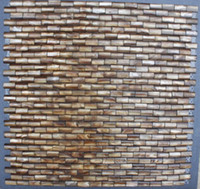 Wholesale 10 mm antique brass D arch Brick Mother of Pearl Shell Mosaic Tiles