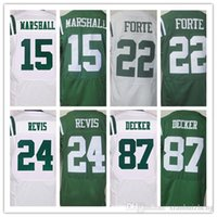best mens shorts - Best quality jersey Mens Brandon Marshall Matt Forte Darrelle Revis Eric Decker elite football jersey White Green Size M XXXL