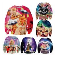 Wholesale Harajuku sweatshirts women new d printed cartoon cats pusheen cute sweatshirts spring casual top clothing Pullovers Sweatshirt