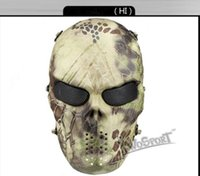 P54668505 CS Cráneo Esqueleto Full Face Tactical Paintball Proteger Seguridad Terror Máscara Halloween Cosplay Vestido Máscara Jagged horror accesorios