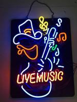 acrylic tube display - 17 quot x14 quot LIVE MUSIC GUITAR Rock Black Acrylic Board CUSTOM HANDCRAFT REAL GLASS TUBE NEON LIGHT BEER BAR PUB CLUB BALL DISPLAY WALL SIGN