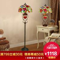 Wholesale European garden rose wedding gift lamp difany lamp creative living room study bedroom vertical desk lamp