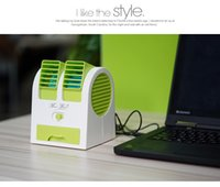 Wholesale USB Battery Dual Use Air Conditioning Scent Mini Fan New Dormitory Office Turbine Desktop No Leaf Air Conditioning