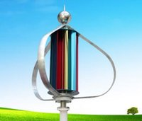 100W axis turbine - Magnetic levitation w landscape with a magnetic power generator with a vertical axis of small wind turbines start