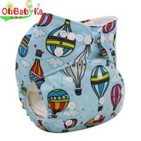 bamboo couches - Ohbabyka Bamboo Baby Cloth Diaper Cover AIO Washable Cloth Nappy Resuable Quick Drying Diapers Couches Lavables Reusable Nappies