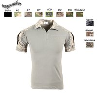 Wholesale Outdoor Woodland Hunting Shooting US Battle Dress Uniform Tactical BDU Army Combat Clothing Camo Shirt Camouflage T Shirt SO05