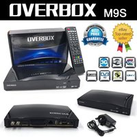 Wholesale 50pcs OVERBOX m9s k satellite receiver Openbox V8S set top box Support USB external Wifi WEB TV Turner Cccamd Newcamd Biss Key in Stock UK