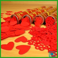 Wholesale 2017 best quality best beautiful Happy marriage heart shaped fireworks tube Confetti Wedding supplies color tube celebration fireworks hand