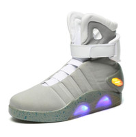 Wholesale High quality brand Limited Edition Back to the Future Soldier shoes led luminous light up men Shoes in colors size