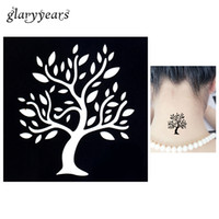 Wholesale pc Temporary Airbrush Henna Stencil for Women Body Painting Waterproof Life of Tree Pattern Tattoo Stencil Leg Arm Art Tool G72