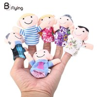 Wholesale Set Cloth Family Finger Puppets Plush Toy Story Telling Tools