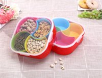 Wholesale 5 in Multifunction Removable Home Dried Fruit Plate PP Material Snacks Storage Box Candy Holder Nut Case