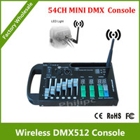 Wholesale DHL CH DMX controller with wireless dmx transmitter with V battery powered or V DC programs groups ID