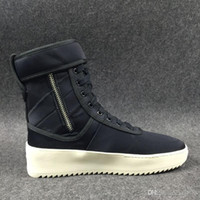 alligator hook - with Box high Men Winter Boots Owen Winter Shoes fear of god High shoe FOG black white military boots high street boots