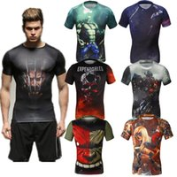 batman clothes - 2016 tights jersey hero fitness workout clothes Transformers batman spiderman running Sports Ronaldo shirt