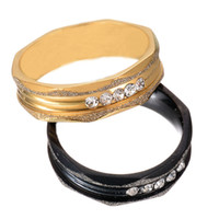 Wholesale Factory Direct Never Fade L Stainless Steel Size to Creative Rings Sand Blasted Five Stone Rings For Women Gift