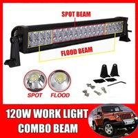 Wholesale 24 inch W LED W LED WORK LIGHT BAR Spot Flood COMBO BEAM LED DRIVING Lamp FOR Offroad ATV Jeep Boat Trailer x4 TRUCK V V