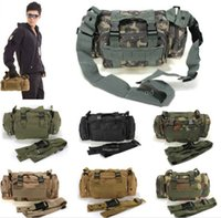 Wholesale 50pcs Utility Tactical Waist Pack Pouch Military Camping Hiking Outdoor Sport Adjustable Nylon Waterproof Bag Free DHL Fedex