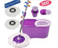 Wholesale US stock Rotating Head Easy Magic Floor Spin Mop Bucket Heads Microfiber Spinning