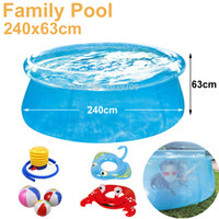 Pool aqua swimming pools - see through cm transparent blue above ground pools family pool inflatable swimming pool for adult easy set aqua piscina