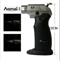arc welds - AOMAI Dual flame Spray Gun Adjustable Flame Butane Gas Jet Cigarette Welding Torch Lighter With Gift Box vs USB ARC electronic Lighters