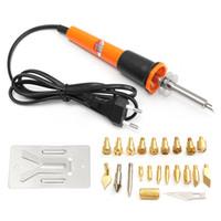 Wholesale 30W Pyrography Tool Wood Burning Iron Pen Set Kit with Assorted Woodburning Tips