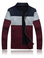 Wholesale New Sweater Men Winter Keep Warm Knitwear Thick Cashmere Ugly Christmas Sweaters Cardigan Male Casual Coat SY116